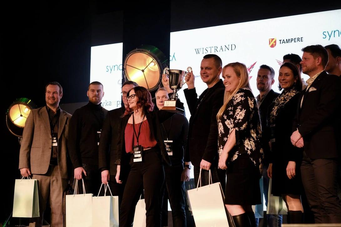 Finnos Vinnare I Finalen Av Startup World Cup I Finland 2019